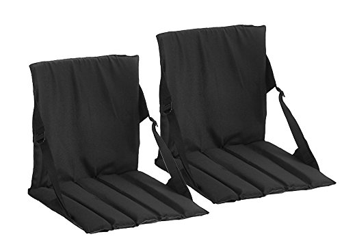 2 Pack Coleman Stadium Seat,Black