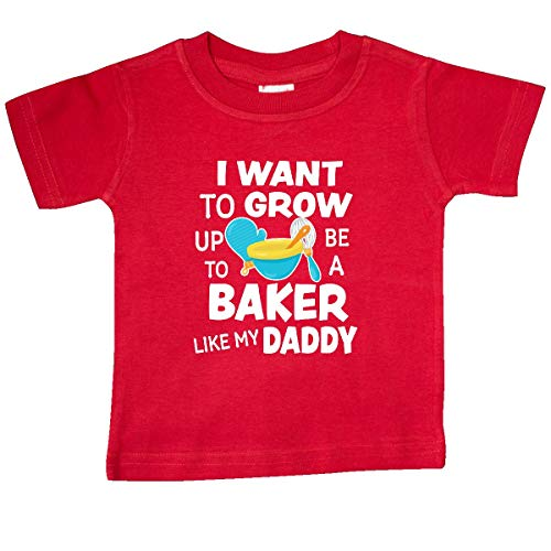 inktastic - I Want to Grow up to Be a Baker Baby T-Shirt 24 Months Red 345db