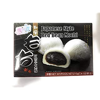 Royal Family Japanese Rice Cake Mochi Daifuku (Red Bean), 7.4 Ounce, Pack of 2
