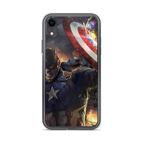 iPhone XR Pure Anti-Scratch Case Captain Shield America Shield Vs Thanos Punch Stan Lee Movie Shield Avengerss Comic Superhero (Guardians Of The Galaxy Captain America Shield)