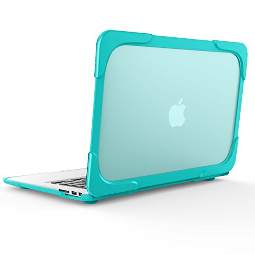 WeLoveCase MacBook Air 11 inch Matte Plastic Hard Case [Scratch Resistant] Slim Rubberized [Heavy Duty] Snap-On Protective Cover with Foldable Kickstand for MacBook Air 11 Model A1370/A1465 (Mint)