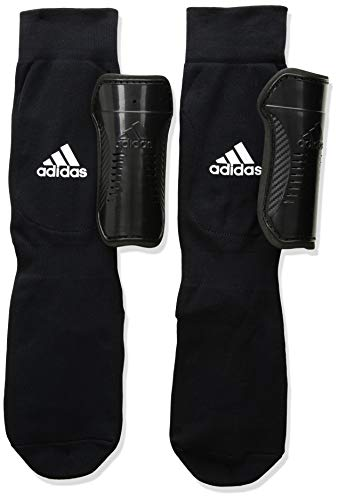 Youth Sock Guard Soccer Shin Guards, Black/White, L