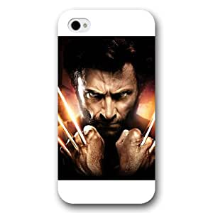 UniqueBox Customized Marvel Series Case for iPhone 4 4S, Marvel Comic Hero X-Men Wolverine Logan iPhone 4 4S Case, Only Fit for Apple iPhone 4 4S (White Frosted Case)
