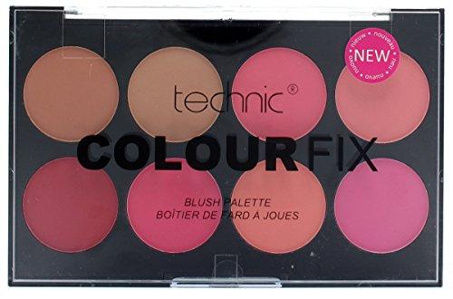 Technic Colour Fix Pressed Powder 8 Colour Blush (Powder Blush Palette)