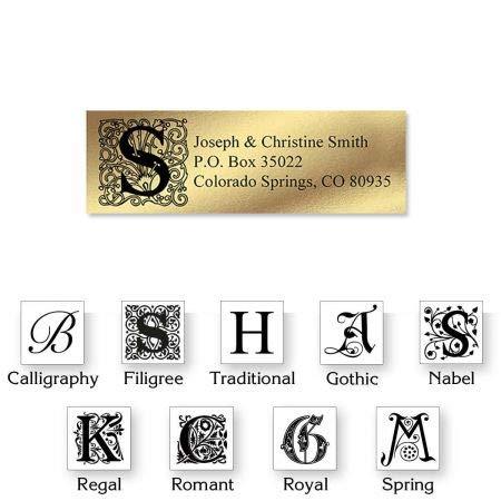 Monogram Gold Foil Address Labels - Set of 240 2