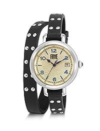 FRYE MELISSA - Reloj de pulsera para mujer, acero inoxidable, correa de piel de cuarzo japonés, color negro, 10 relojes informales (Modelo: 37FR00019-01)