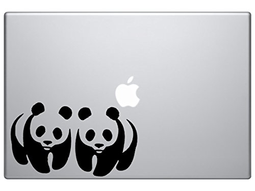 Panda Logo Mirror - Animal Decal Vinyl Removable Decorative Sticker for Wall, Car, Ipad, Macbook, Laptop, Bike, Helmet, Small Appliances, Music Instruments, Motorcycle, ()