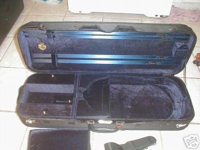 New viola hard case, arched top, size adjustable