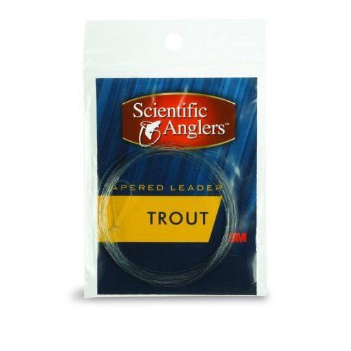 Scientific Anglers Knotless Tapered Trout Leaders (Length: 9 Feet, Size: 2X)