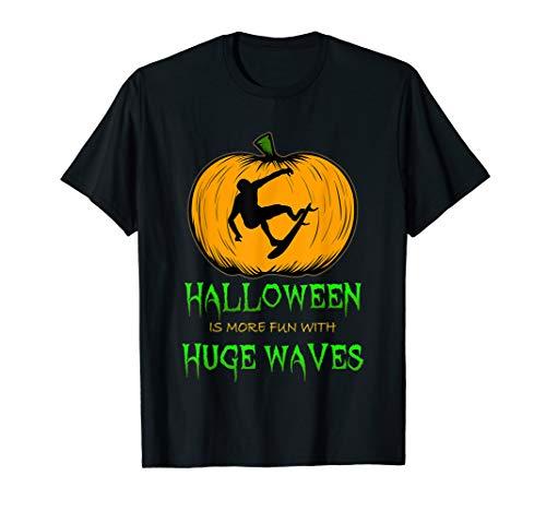 Surf Pumpkin Carving Halloween Surfer Silhouette Clip Art T-Shirt -