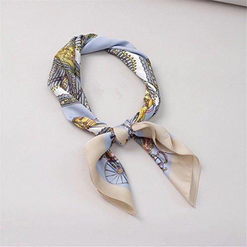 FLYRCX Women's soft imprime mode foulards en soie foulards en soie satin soyeux 70cmx70cm