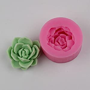 Silicone mould 3 fleshy green plant leaves Fondant cake Handmade soap mold resin clay craft DIY tools h602