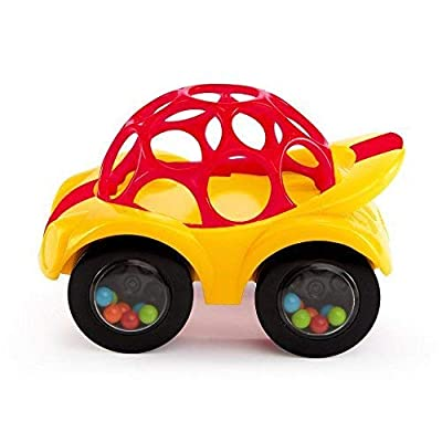 Oball Rattle and Roll Car (Single Car, Colors May Vary) : Baby Rattles : Baby