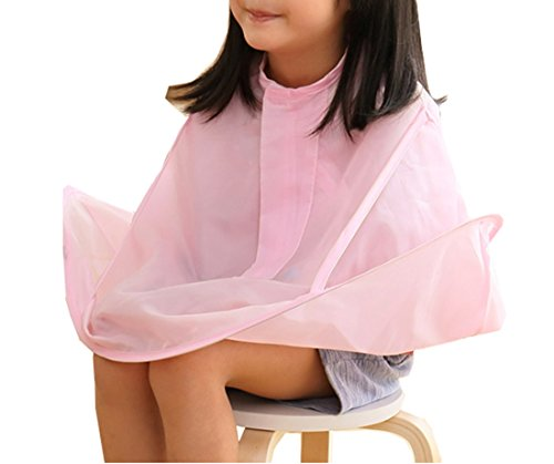 Children Haircut Catcher Apron Cape Hairdresser Barber Haircut Umbrella for Kids (Pink) - Circumference Catchers
