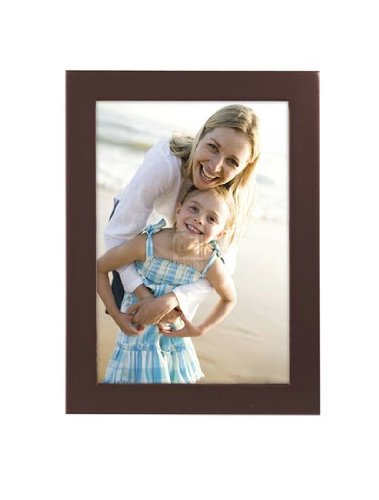 Malden International Designs Dark Walnut Concept Wood Picture Frame, 3x5, Walnut