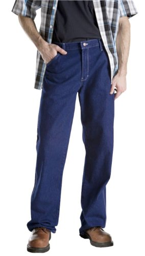 Dickies Men's Relaxed Fit Carpenter Jean, Indigo Rigid, 32x34
