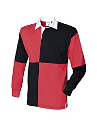 Front Row-Tops-Shirts-Quartered rugby shirt-
