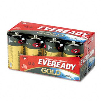 A95-8 ''D'' Eveready Gold Alkaline Battery 8/Crd by EVERDY