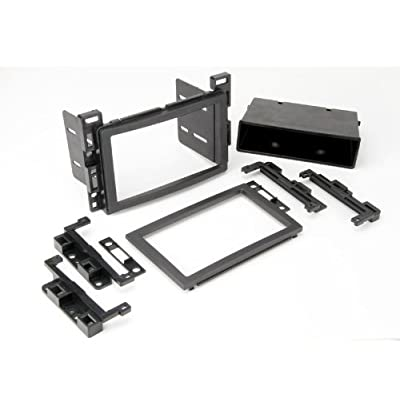 SCOSCHE GM2500B 2005-Up Select GM Double DIN or DIN w/pocket Install Dash Kit,black: Car Electronics