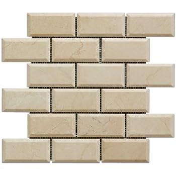 Crema Marfil Subway 3x6 Marble Tile Premium Polished Amazoncom