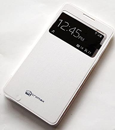 huge selection of b465f 4d8b6 Evoque Flip Cover For Micromax Canvas Doodle 3 A102 White: Amazon.in ...