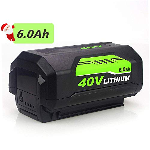 - 6.0Ah High Capacity Replace for Ryobi 40V Lithium Battery OP4040 OP40261 OP4026 OP4026A OP4030 RY40200 RY40403 RY40204 Cordless String Trimmer Battery