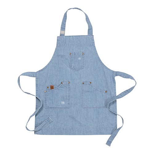Ayesha Curry Chef & Hostess Kid Apron | Denim | Perfect for Your Kitchen, Garden, The Art Room or Anywhere You Interact with Your Toddlers ()