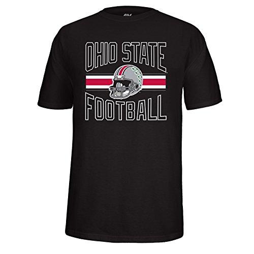 J America NCAA Adult Unisex Ohio State Buckeyes Football Helmet Choice Tee, X-Large, Black (State Ohio Ncaa Helmet)