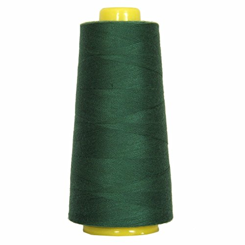 55 Colors - Polyester Huge 2750 YD Cones 40/2 TEX 27 Sewing Serger Thread Spun (Pine Green) by SHR_DART