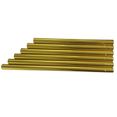 YEJI 6 Pcs Gold Tone Large Hollow Wind Chime Tubes