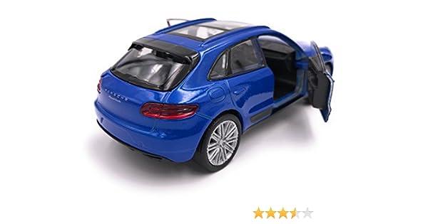 39 azul Producto de licencia de autom/óvil modelo SUV Welly Porsche Macan 1 34-1
