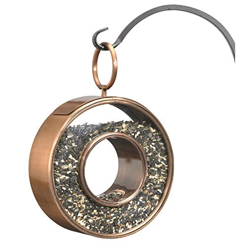 Good Directions 0111VB Circle Fly-Thru Bird Feeder Birdfeeder, Copper Finish