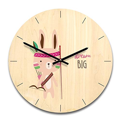 Amazon.com: Kamas New Clock Cartoon Wall Clock Silent Movement Children`s Bedroom Wall Decor Colorful Clocks Fashion Unique Design Reloj Pared - (Color: ...