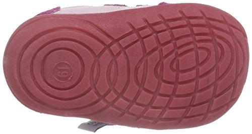 Rose & Chocolat Baby Mädchen Lauflernschuhe Pink (Suede Fuchsia Trainers)