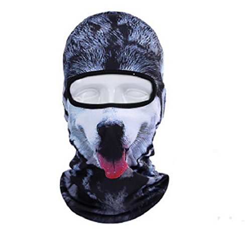 [BOSSXIN 2 pcs Animal Face Mask Winter Motorcycle Balaclava Hood Outdoor Sport Cosplay (Black Dog)] (Smiley Horror Mask)