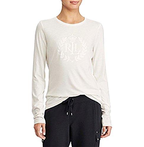 Lauren Ralph Lauren Crown Logo Tee (Cream, M) ()
