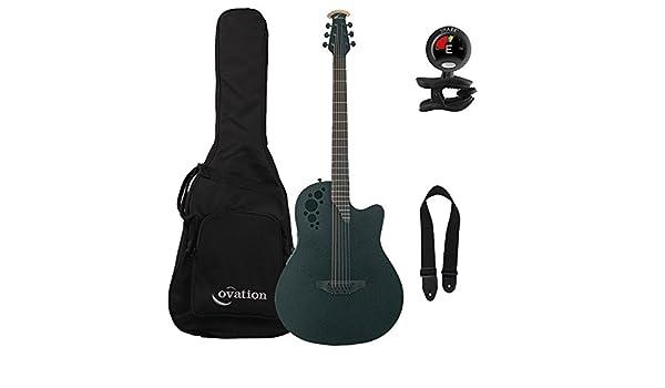 Ovation ds778tx-5 D Scaled acústica guitarra eléctrica con bolsa de concierto, sintonizador, y correa: Amazon.es: Instrumentos musicales