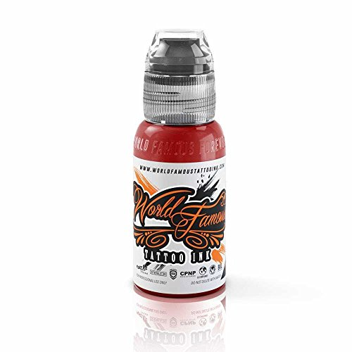 World Famous Tattoo Ink – Vegan-Friendly Professional Tattooing Inks – Master Mike Red, 1 ()