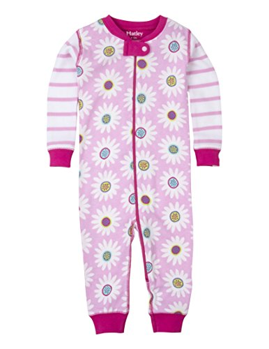 Hatley Baby Toddler Girls' 100% Organic Cotton Sleeper, Graphic Daisy, 6-9M
