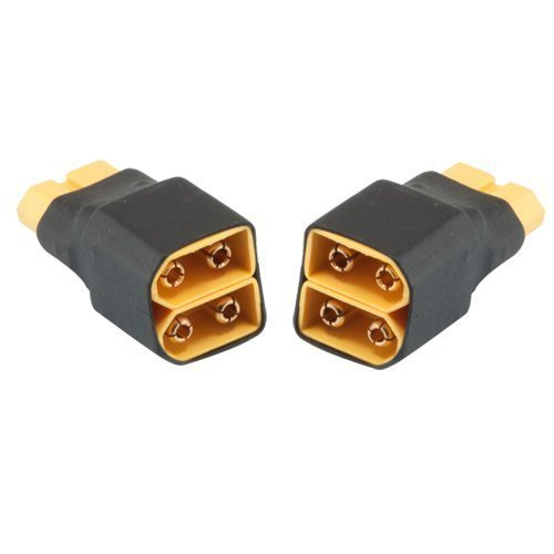 2Pcs No Wires Connector XT60 XT-60 Parallel Connector 1 Female To 2 Male For RC LiPo NiHM Battery ESC