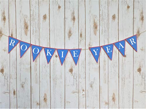 Rookie Year Banner Baseball Garland Photo Prop 1st Birthday Boy Ideas Theme Its A Boy Party Decorations ONE First Birthday Triangle Pennant