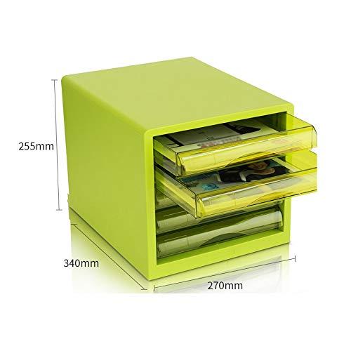 Desktop File Cabinet, Archive Cabinet 5-Layer Plastic Drawer Information Office A4 Storage (Color : Blue) (Color : B1)