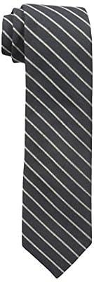Calvin Klein Men's Gold Glimmer Pinstripe Tie black