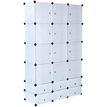Cu0026AHOME -18 Cubes Clothes Closet Wardrobe Armoire Storage Cube With Doors (  sc 1 st  Amazon.com & Amazon.com: Cu0026AHOME -18 Cubes Clothes Closet Wardrobe Armoire ...