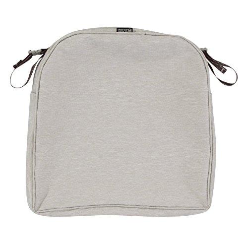 - Classic Accessories Montlake Patio Back Cushion Slip Cover, Heather Grey, 20x20x2 Contoured