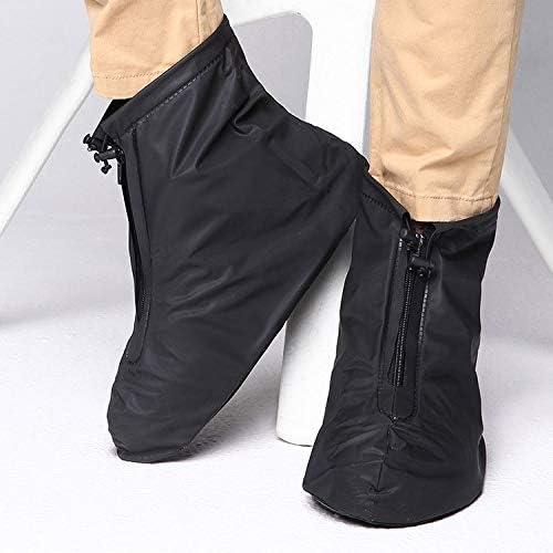 男女兼用 ファッションPVCノンスリップ防水太い底の靴カバーサイズ:XXL(ブラック)
