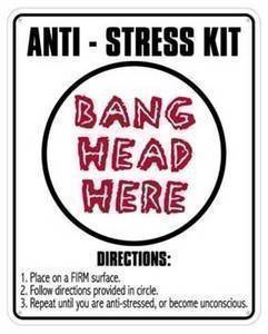 Anti-stress Kit aluminium funny sign (ss): Amazon.co.uk