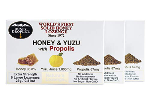 Honey in a solid form three pack value combined with functional ingredient propolis and yuzu juice no added sugar no maltodextrin in a natural super-food antioxidant