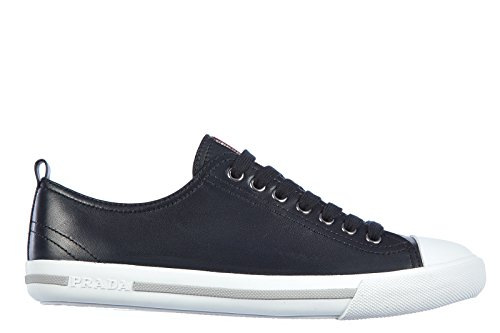 Prada men's shoes leather trainers sneakers nappa blu US size 7 (Prada Nappa Leather)