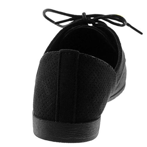 2 Bloc Talon Chaussure Derbies Angkorly CM Noir Perforée Femme Mode nqTaWOw0